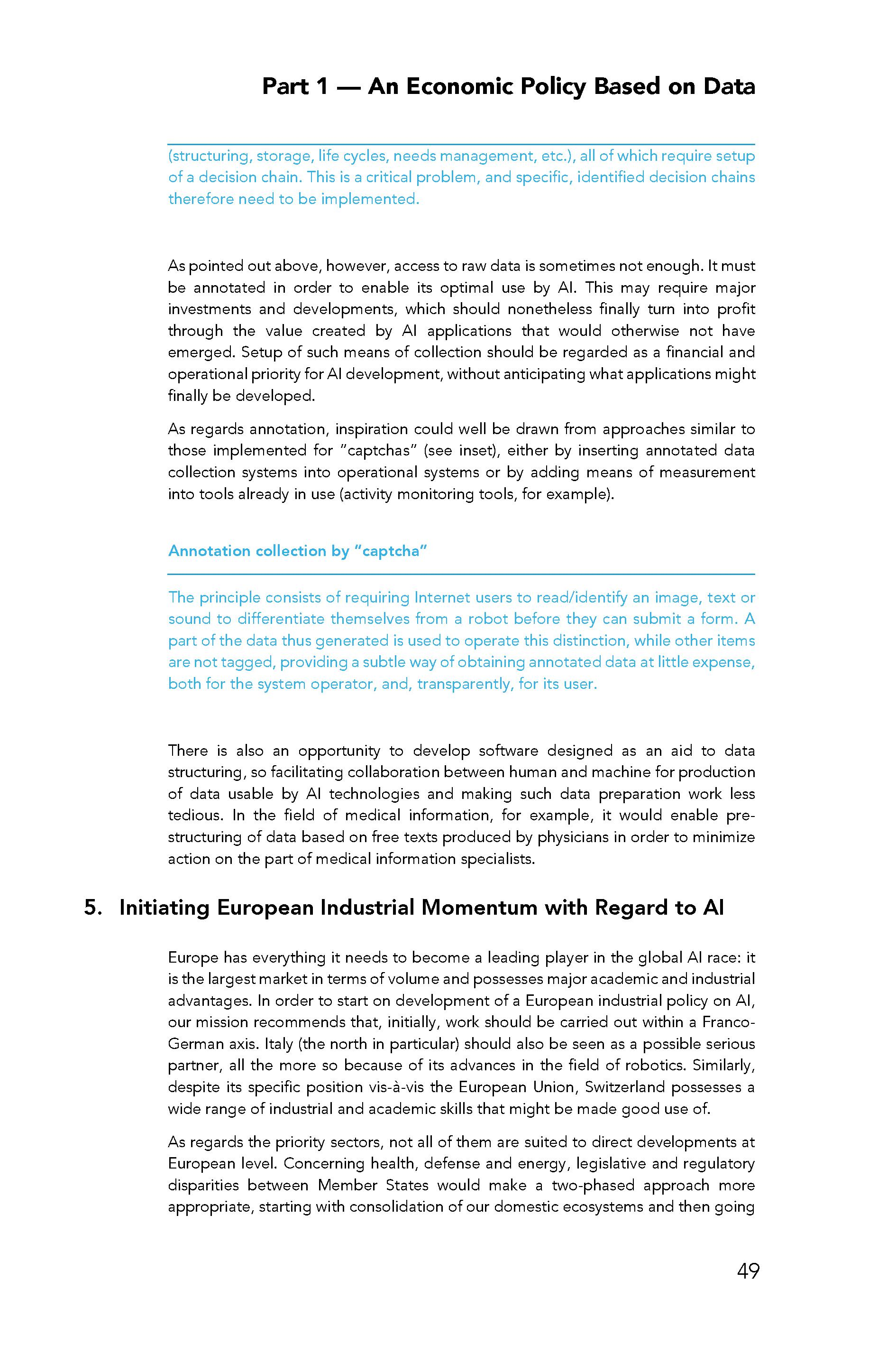 For A Meaningful AI Report
